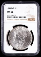1883-O Morgan Silver Dollar (NGC MS62) at PristineAuction.com