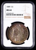 1889 Morgan Silver Dollar (NGC MS64) (Toned) at PristineAuction.com