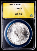 1885 Morgan Silver Dollar (ANACS MS63) at PristineAuction.com