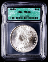 1885 Morgan Silver Dollar (ICG MS65) at PristineAuction.com
