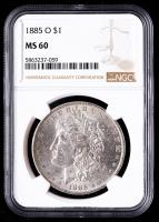 1885-O Morgan Silver Dollar (NGC MS60) at PristineAuction.com