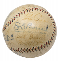 1929 Yankees OAL Baseball Team-Signed by (26) With Bob Meusel, Lou Gehrig, Tony Lazzeri, Herb Pennock (PSA LOA) at PristineAuction.com