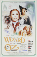 """The Wizard of Oz"" 15.5x24 Movie Poster Cast-Signed by (8) with Karl Slover, Clarence Swenson, Margaret Pellirini, Ruth Duccini, Donna Stewart, Jerry Maren, Meinhardt Robbie, Mickey Carroll With Multiple Inscriptions (JSA COA) at PristineAuction.com"