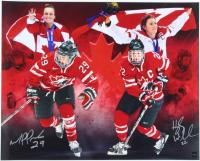 Marie-Philip Poulin & Hayley Wickenheiser Team Canada 16x20 Photo (COJO COA) at PristineAuction.com