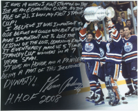Glenn Anderson Signed Oilers 16x20 Photo with Extensive Inscription (Steiner Hologram) at PristineAuction.com