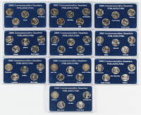 Complete Set of (50) 1999 - 2008-D United States Commemorative State Quarters with Case at PristineAuction.com