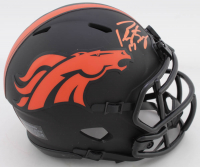 Peyton Manning Signed Broncos Eclipse Alternate Speed Mini-Helmet (Fanatics Hologram) at PristineAuction.com