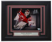 Martin Brodeur Signed Devils 11x14 Custom Framed Photo Display (Fanatics Hologram) at PristineAuction.com