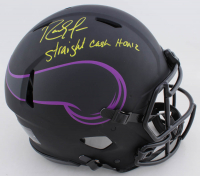 "Randy Moss Signed Vikings Full-Size Authentic On-Field Eclipse Alternate Speed Helmet Inscribed ""Straight Cash Homie"" (Beckett COA) at PristineAuction.com"