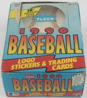1990 Fleer Baseball Wax Box with (36) Wax Packs at PristineAuction.com