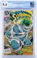 """1992 """"Superman: The Man of Steel"""" Issue #18 DC Comics Comic Book (CGC 9.6) at PristineAuction.com"""