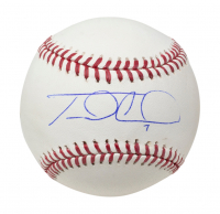Travis d'Arnaud Signed OML Baseball (Fanatics Hologram) at PristineAuction.com