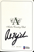 Phil Mickelson Signed Austin Country Club Scorecard (Beckett COA) at PristineAuction.com