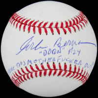 "Corbin Bernsen Signed OML Baseball Inscribed ""Dorn"" & ""Strike This M************* Out!"" (Beckett COA) at PristineAuction.com"