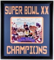 1985 Bears Super Bowl XX Champions 33.5x37.5 Custom Framed Photo Display Team-Signed by (29) with Mike Ditka, Richard Dent, Mike Singletary, Dan Hampton, Steve McMichael (JSA ALOA) at PristineAuction.com