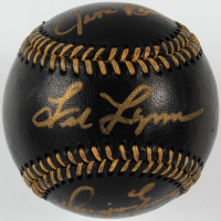 Jim Rice, Fred Lynn, & Dwight Evans Signed OML Black Leather Baseball (JSA COA) at PristineAuction.com