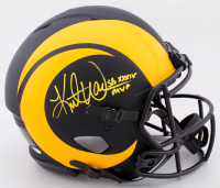 "Kurt Warner Signed Rams Full-Size Authentic On-Field Eclipse Alternate Speed Helmet Inscribed ""SB XXXIV MVP""(Beckett COA) at PristineAuction.com"