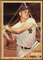 Roger Maris 1962 Topps #1 at PristineAuction.com