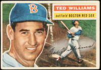 Ted Williams 1956 Topps #5 at PristineAuction.com