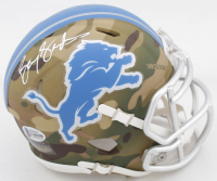 Barry Sanders Signed Lions Camo Alternate Speed Mini Helmet (Beckett COA) at PristineAuction.com