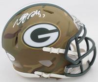 Davante Adams Signed Packers Camo Alternate Speed Mini Helmet (Beckett COA) at PristineAuction.com