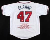 Tom Glavine Signed Career Highlight Stat Jersey (JSA COA) at PristineAuction.com