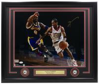 Allen Iverson Signed 76ers 22x27 Custom Framed Photo Display (JSA COA) at PristineAuction.com