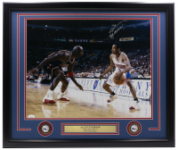 """Allen Iverson Signed 76ers 22x27 Custom Framed Photo Display Inscribed """"The Answer"""" (JSA COA) at PristineAuction.com"""