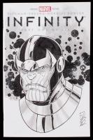 "Tom Hodges - Thanos - ""Infinity"" - Issue #1 - Sketch Cover Variant Marvel Comic Book with Original Sketch (PA COA) at PristineAuction.com"