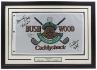 "Chevy Chase, Cindy Morgan & Michael O'Keefe Signed ""Caddyshack"" Bushwood Country Club 20x28 Custom Framed Golf Pin Flag Inscribed ""Lacy"" & ""Noonan"" (PSA COA) at PristineAuction.com"