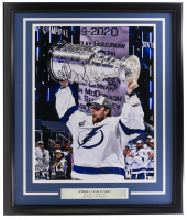 Andrei Vasilevskiy Signed Lightning 22x27 Custom Framed Photo Display (Fanatics Hologram) at PristineAuction.com