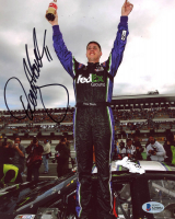Denny Hamlin Signed NASCAR 8x10 Photo (Beckett COA) at PristineAuction.com