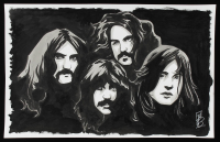 Tom Hodges - Black Sabbath - Signed 11x17 ORIGINAL Artwork (PA COA) at PristineAuction.com