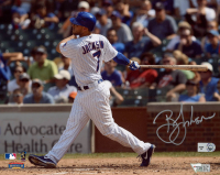 Brett Jackson Signed Cubs 8x10 Photo (MLB Hologram & Fanatics Hologram) at PristineAuction.com