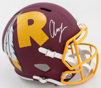 Chase Young Signed Washington Full-Size AMP Alternate Speed Helmet (Fanatics Hologram) at PristineAuction.com