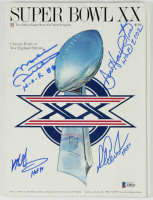 1985 Super Bowl XX Game Program Signed by (4) with Mike Ditka, Mike Singletary, Richard Dent, Dan Hampton with Multiple Inscriptions (Beckett LOA) at PristineAuction.com