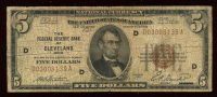 1929 $5 Five Dollar U.S. Federal Reserve Bank Currency Brown Seal Bank Note at PristineAuction.com
