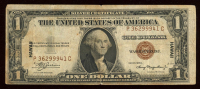 """1935-A $1 One-Dollar """"HAWAII"""" World War II Emergency Brown Seal Silver Certificate at PristineAuction.com"""