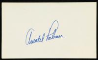 Arnold Palmer Signed 3x5 Index Card (JSA COA) at PristineAuction.com