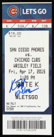 Kris Bryant Signed 2015 Chicago Cubs Ticket (JSA COA) at PristineAuction.com
