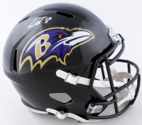 Lamar Jackson Signed Ravens Full-Size Speed Helmet (JSA COA) at PristineAuction.com
