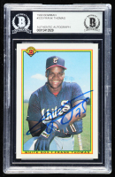 Frank Thomas Signed 1990 Bowman #320 RC (BGS Encapsulated) at PristineAuction.com