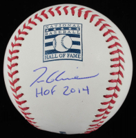 "Tom Glavine Signed OML Hall of Fame Logo Baseball Inscribed ""HOF 2014"" (JSA COA) at PristineAuction.com"