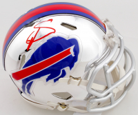 Stefon Diggs Signed Bills Chrome Speed Mini-Helmet (Beckett COA) at PristineAuction.com