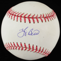 Yogi Berra Signed OML Baseball (JSA COA & MLB Hologram) at PristineAuction.com