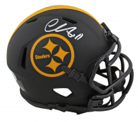 Chase Claypool Signed Steelers Eclipse Alternate Speed Mini-Helmet (Beckett COA) at PristineAuction.com