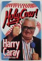 "Harry Caray Signed 1989 ""Holy Cow!"" Hardcover Book Inscribed ""Hope You Enjoy Holy Cow!"" (Beckett COA) at PristineAuction.com"