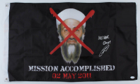 "Robert O'Neill Signed Osama Bin Laden ""Mission Accomplished"" Flag Inscribed ""Never Quit!"" (PSA COA) at PristineAuction.com"