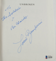 """Louis Zamperini Signed """"Unbroken"""" Hardcover Book Inscribed """"To The Soldiers Be Hardy"""" (Beckett COA) at PristineAuction.com"""