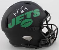 Keyshawn Johnson Signed Jets Full-Size Eclipse Alternate Speed Helmet (JSA COA) at PristineAuction.com